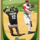 ANDREW ROMINE 2011 Bowman GOLD Insert ROOKIE Card #206 Los Angeles Anaheim Angels FREE SHIPPING