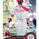 DOMONIC BROWN 2011 Topps Card #421 Philadelphia Phillies FREE SHIPPING Baseball 421