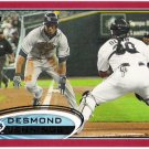 DESMOND JENNINGS 2012 Topps RED Border PARALLEL Card #5 Tampa Bay Rays FREE SHIPPING Target Insert 5