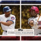 ANDRE DAWSON & JUSTIN UPTON 2012 Topps Timeless Talents INSERT Card #TT-16 Diamondbacks CUBS