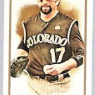 TODD HELTON 2011 Topps Allen & Ginter Mini INSERT Card #154 Colorado Rockies SASE Parallel 154