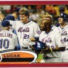 LUCAS DUDA 2012 Topps Red Border Parallel INSERT Card #128 New York Mets FREE SHIPPING Baseball