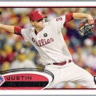 JUSTIN DE FRATUS 2012 Topps ROOKIE Card #243 Philadelphia Phillies FREE SHIPPING Baseball