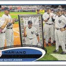 MARIANO RIVERA 2012 Topps All Time Saves Leader CL Card #109 New York Yankees FREE SHIPPING Baseball