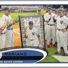 MARIANO RIVERA 2012 Topps All Time Saves Leader CL Card #109 New York Yankees FREE SHIPPING Baseball