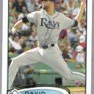 DAVID PRICE 2012 Topps Card #80 Tampa Bay Rays FREE SHIPPING Baseball 80