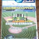 COLUMBUS CLIPPERS 2008 Pocket Schedule FINAL Season At COOPER STADIUM Washington Nationals Baseball