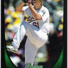 BRUCE BILLINGS 2011 Bowman Draft ROOKIE Card #6 Oakland A's SASE Baseball RC 6