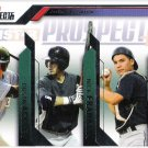 DUSTIN ACKLEY NICK FRANKLIN STEVEN BARON 2009 Tristar Prospects Plus ROOKIE Card 97 SEATTLE MARINERS