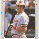 CAL RIPKEN JR 1988 Fleer Star Stickers Card #3 BALTIMORE ORIOLES Baseball FREE SHIPPING 3