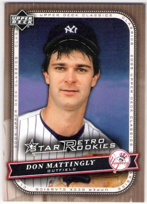 DON MATTINGLY 2005 Upper Deck Classics Retro Rookies SHORT PRINT Card #110 NEW YORK YANKEES SASE 110