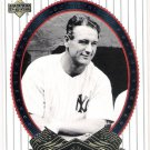 LOU GEHRIG 2002 Upper Deck World Series Heroes Card #81 NEW YORK YANKEES SASE Baseball 81