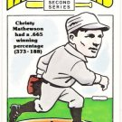 CHRISTY MATHEWSON 1980 R.G. Laughlin 2nd Series Card #22 SAN FRANCISCO GIANTS Free Shipping