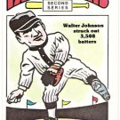 WALTER JOHNSON 1980 R.G. Laughlin 2nd Series Card #25 WASHINGTON SENATORS Baseball FREE SHIPPING 25