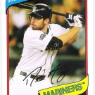 DUSTIN ACKLEY 2012 Topps Archives Card #149 SEATTLE MARINERS Baseball SASE 149