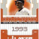 BARRY BONDS 2002 Fleer E-X 4X MVP INSERT Card #'d 1980/1993 SAN FRANCISCO GIANTS #3BB FREE SHIPPING