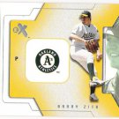 BARRY ZITO 2002 Fleer E-X Behind The Numbers INSERT Card #29BN OAKLAND A'S Baseball FREE SHIPPING