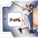 CHIPPER JONES 2002 Fleer E-X Behind The Numbers INSERT Card #17BN ATLANTA BRAVES FREE SHIPPING 17