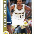 LATRELL SPREWELL 1992-93 Hoops ROOKIE Card #389 GOLDEN STATE WARRIORS Basketball FREE SHIPPING