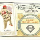 COLE HAMELS 2012 Topps Allen & Ginter What's In A Name INSERT Card #WIN75 PHILADELPHIA PHILLIES 75