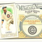 STARLIN CASTRO 2012 Topps Allen & Ginter What's In A Name INSERT Card #WIN27 CHICAGO CUBS 27