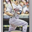 JUSTIN MORNEAU 2012 Topps Gypsy Queen STRAIGHT CUT Back Mini Card #119 MINNESOTA TWINS FREE SHIPPING