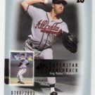 GREG MADDUX 2003 SP Authentic Superstar Flashback INSERT Card #SF7 ATLANTA BRAVES #'d 366/2003 SF7