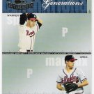 GREG MADDUX & WARREN SPAHN 2004 Donruss Throwback Threads Generations INSERT Card #G8 #'d 577/1500