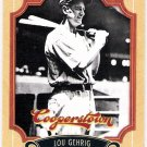 LOU GEHRIG 2012 Panini Cooperstown Card #6 NEW YORK YANKEES Baseball FREE SHIPPING 6