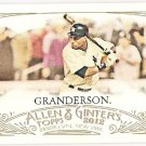 CURTIS GRANDERSON 2012 Topps Allen & Ginter Mini INSERT Card #71 NEW YORK YANKEES FREE SHIPPING