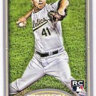 BRAD PEACOCK 2012 Topps Gypsy Queen GQ Back INSERT Mini ROOKIE Card #114 OAKLAND A'S FREE SHIPPING