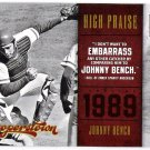 JOHNNY BENCH 2012 Panini Cooperstown High Praise INSERT Card #3 CINCINNATI REDS FREE SHIPPING 3
