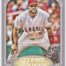 ALBERT PUJOLS 2012 Topps Gypsy Queen Card #180 LOS ANGELES ANAHEIM ANGELS Baseball FREE SHIPPING