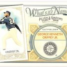 KEN GRIFFEY JR 2012 Topps Allen & Ginter What's In A Name INSERT Card #WIN95 SEATTLE MARINERS And 95