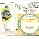 CHIPPER JONES 2012 Topps Allen & Ginter What's In A Name INSERT Card #WIN14 ATLANTA BRAVES And 14
