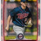 DREW LEACHMAN 2012 Bowman CHROME Prospects ROOKIE X-FRACTOR Card #BCP123 MINNESOTA TWINS FREE SHIP