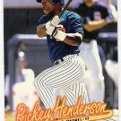 RICKEY HENDERSON 1997 Fleer GOLD Medallion Parallel INSERT Card #G285 SAN DIEGO PADRES Baseball G285