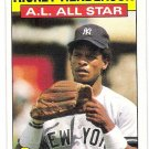 RICKEY HENDERSON 1986 Topps All Star Card #716 NEW YORK YANKEES Baseball FREE SHIPPING 716 HOF