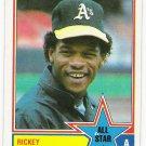 RICKEY HENDERSON 1983 Topps All Star Card #391 OAKLAND A'S Baseball FREE SHIPPING HOF 391