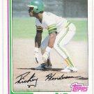 RICKEY HENDERSON 1982 Topps Card #610 OAKLAND A'S Baseball FREE SHIPPING HOF 610