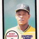 RICKEY HENDERSON 1990 Starting Lineup Card #36A OAKLAND A'S Baseball FREE SHIPPING NNO 36A