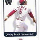JOHNNY BENCH 2001 Fleer Greats of the Game Card #107 CINCINNATI REDS Baseball FREE SHIPPING 107