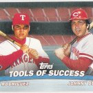 JOHNNY BENCH & IVAN RODRIGUEZ 2001 Topps Tools of Success INSERT Card #TC5 CINCINNATI REDS Baseball
