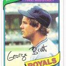 GEORGE BRETT 1980 Topps Card #450 KANSAS CITY ROYALS Baseball FREE SHIPPING 450 HOF