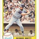 GEORGE BRETT 1981 Fleer Card #655 KANSAS CITY ROYALS Baseball FREE SHIPPING 655 HOF