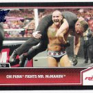 CM PUNK Fights MR. MCMAHON 2013 Topps Best Of WWE BLUE Foil Parallel INSERT Card #52 FREE SHIPPING