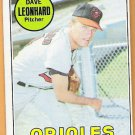 DAVE LEONHARD 1969 Topps Baseball Card #228 BALTIMORE ORIOLES Free Shipping 228