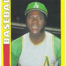 MUDCAT GRANT 1990 Swell Baseball Greats Card #34 OAKLAND A'S Baseball FREE SHIPPING Oddball 34