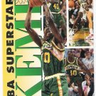 SHAWN KEMP 1993-94 Fleer NBA Superstars INSERT Card #8 SEATTLE SUPERSONICS Basketball FREE SHIPPING