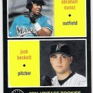 JOSH BECKETT & ABRAHAM NUNEZ 2002 Upper Deck Vintage ROOKIE Card #215 FLORIDA MARLINS FREE SHIPPING